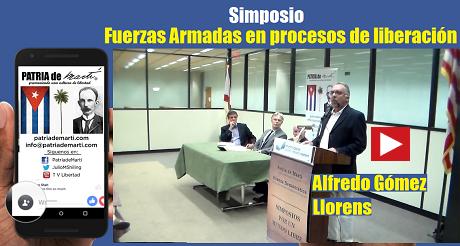 Alfredo Gómez Llorens Simposio Fuerzas Armadas en procesos de liberación