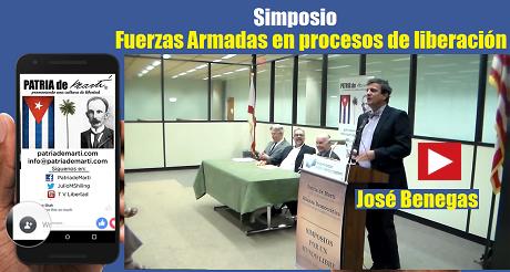 José Benegas Simposio Fuerzas Armadas en procesos de liberación