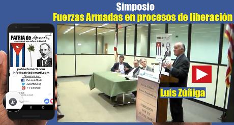 Luís Zúñiga Simposio Fuerzas Armadas en procesos de liberación