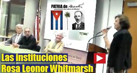 Ponencia de Rosa Leonor Whitmarsh - Las instituciones