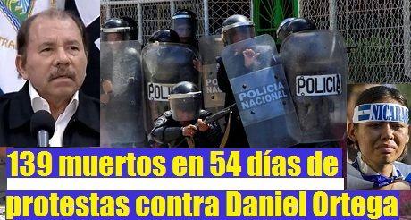 139 muertos en protestas en Nicaragua