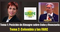 Posición de Almagro sobre Cuba y Venezuela. Colombia y las FARC