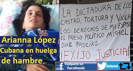 Cubana en huelga de hambre