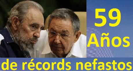 Castrismo: 59 años de récords nefastos