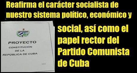 Constitución Cubana Proyecto