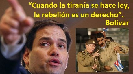 Derecho de rebelión Bolivar