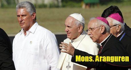 Diaz Canel El Papa Y Mons Aranguren