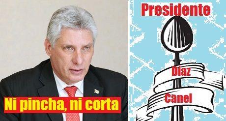 Diaz Canel el presidente cuchara