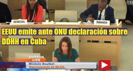 EEUU Declaracion Sobre DDHH En Cuba