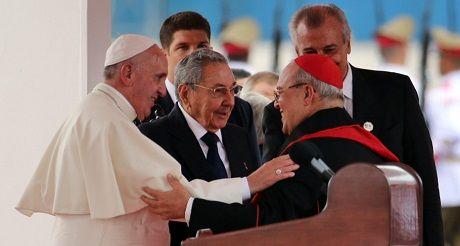 El Papa Raul Y Jaime Ortega
