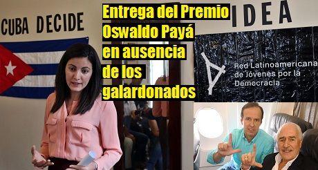 Entregan Premio Oswaldo en ausencia de los ganadores