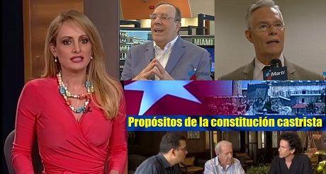Propósitos de la constitución castrista