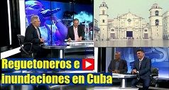 Reguetoneros e inundaciones en Cuba
