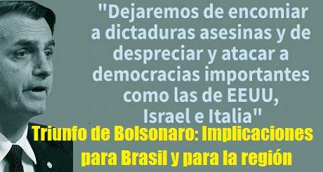Triunfo De Bolsonaro Implicaciones Para Brasil Y La Region