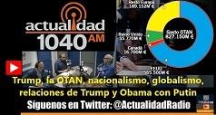 Trump, OTAN, nacionalismo, globalismo, relaciones Trump Obama Putin