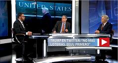 Trump en Twitter No más loterías. EEUU primero