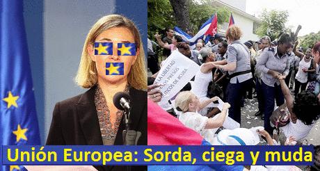 Union Europea sorda, ciega y muda en Cuba