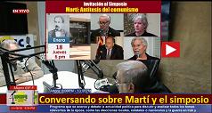 Conversando sobre Martí y el simposio