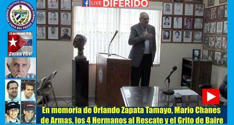 Acto de conmemoracion del presidio politico cubano