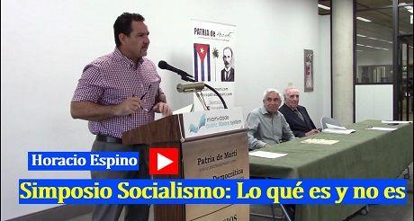 Horacio Espino Simposio Socialismo Lo que es y no es