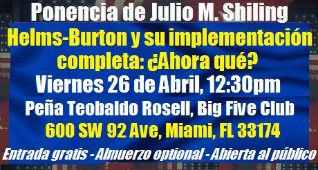 Invitacion Ponencia Helms Burton Implementacion Ahora Que
