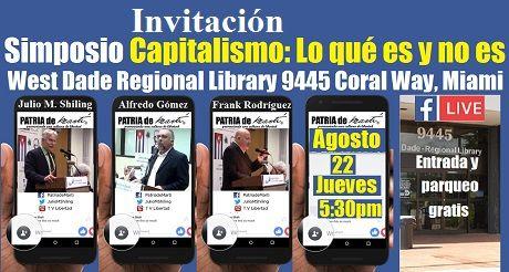 Invitacion Simposio Capitalismo Lo Que Es Y No Es