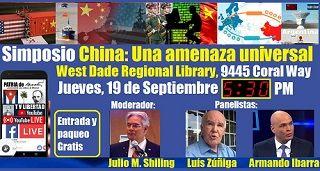 Invitación al Simposio China: Una amenaza universal