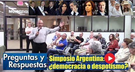 Preguntas Y Respuestas Simposio Argentina Democracia Despotismo
