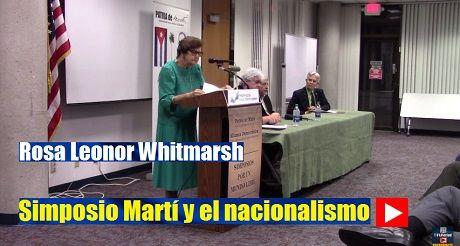 Rosa Leonor Whitmarsh Simposio Marti Y El Nacionalismo