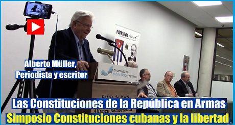 Simposio Constitucion cubana Alberto Muller