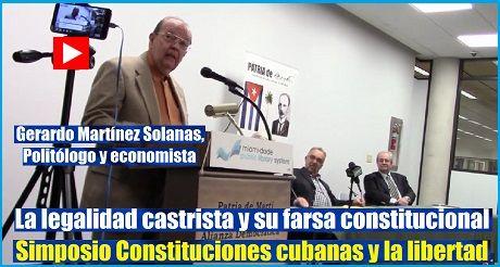 Simposio Constitucion cubana Gerardo Martinez