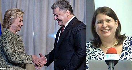 Alexandra Chalupa, Hillary, y Presidente de Ucrania