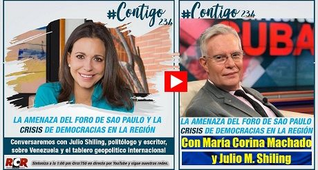 Amenaza del Foro de Sao Paulo Maria Corina Machado y Julio M Shiling
