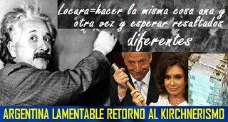Argentina y su lamentable retorno al KIRCHNERISMO