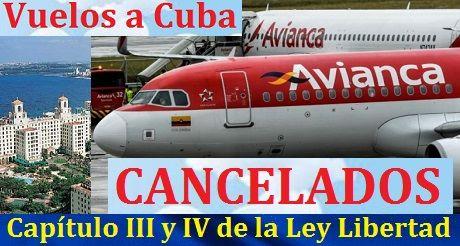 Avianca Suspende Vuelos A Cuba