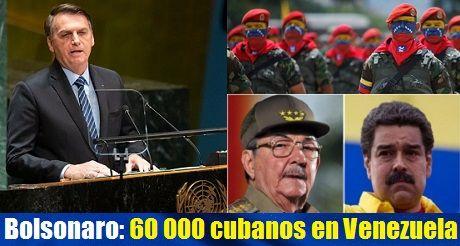 Bolsonaro En La ONU 60000 Cubanos En Venezuela