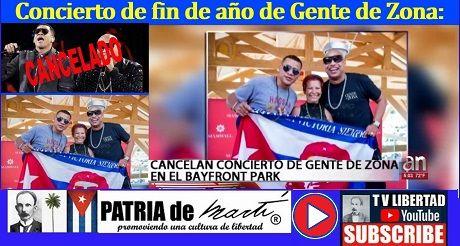 Cancelan concierto de Gente de Zona