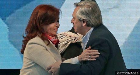Cristina Fernandez y Alberto Fernandez