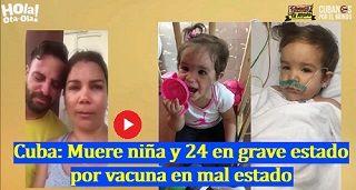 Cuba Muere Nina Por Vacuna En Mal Estado Mobile
