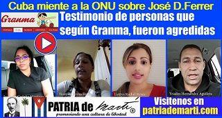Cuba Miente A La ONU Sobre Ferrer Mobile