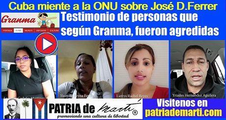 Cuba miente a la ONU sobre José Daniel Ferrer