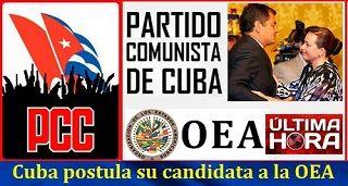 Cuba postula su candidata a la OEA
