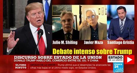 Debate intenso sobre Trump Discurso de la Union