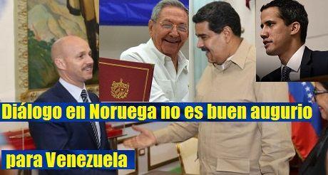 Dialogo En Noruega No Es Buen Augurio Para Venezuela