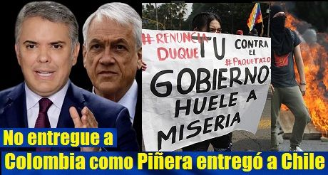 Duque: no entregue a Colombia como Piñera entregó a Chile