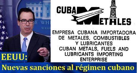 EEUU Nuevas Sanciones Al Regimen Cubano