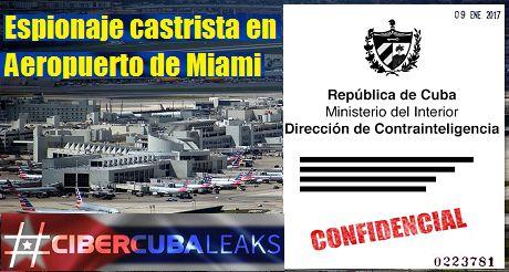 Espionaje Castrista En Aeropuerto De Miami