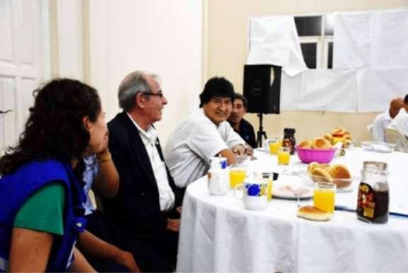 Evo Morales Y Coronel De La Inteligencia Cubana Eric Valdes
