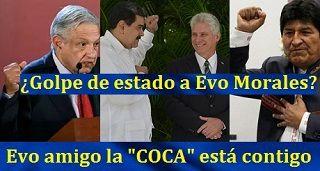 SUPUESTO GOLPE DE ESTADO a Evo Morales