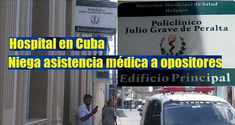 Niegan asistencia médica a opositores en Cuba